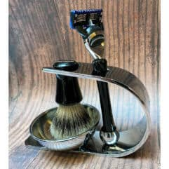 black-horn-shaving-set