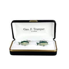 green-silver-fish-cufflinks