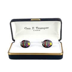 oval multi coloured cufflinks
