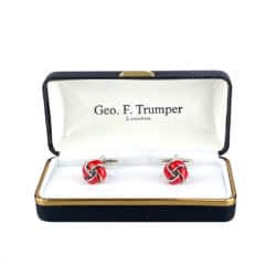red-silver-knot-cufflinks