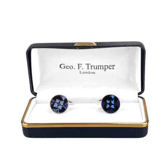 round-black-blue-design-cufflinks